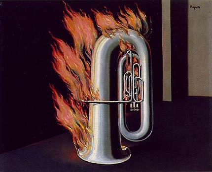 Magritte: Descubrimiento del fuego - surrealismo